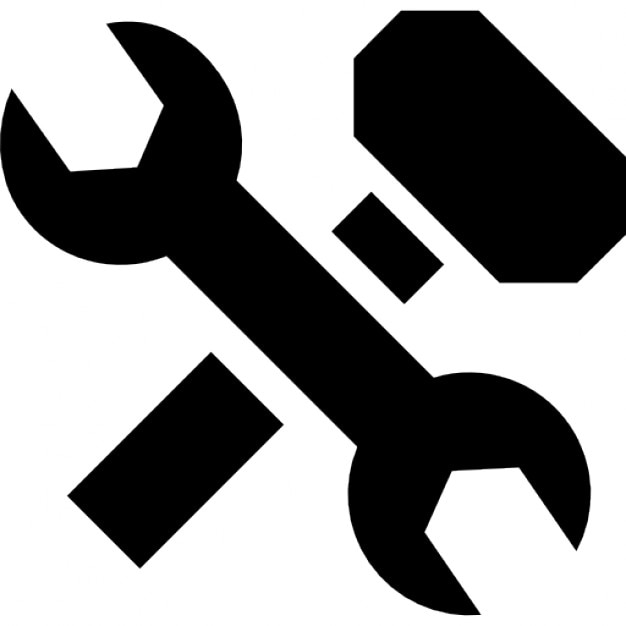 Wrench And Hammer Cross Icons Free Download