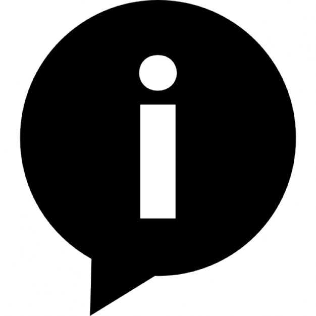 Written Conversation Speech Bubble With Letter I Inside Of