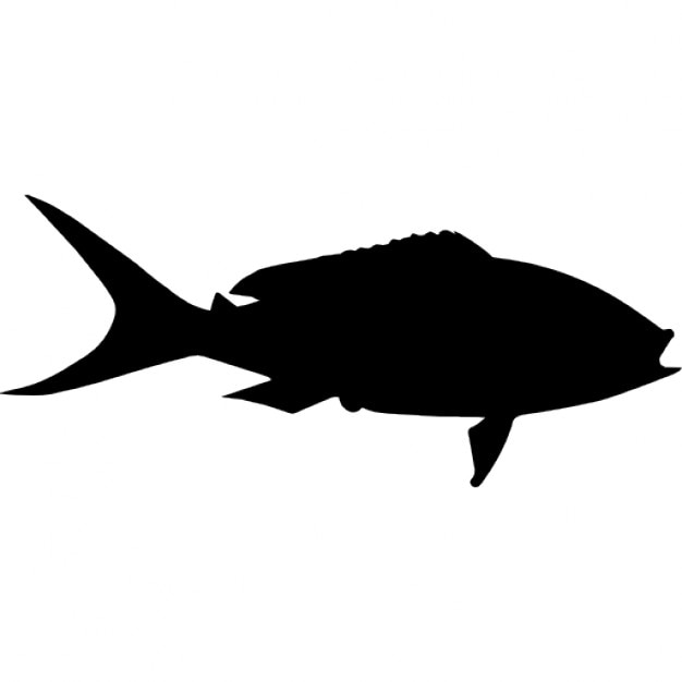 Yellowtail Fish Shape Icons