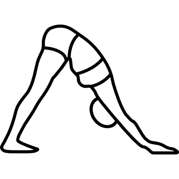 Line Drawing Yoga : Yoga asana of a woman icons free download