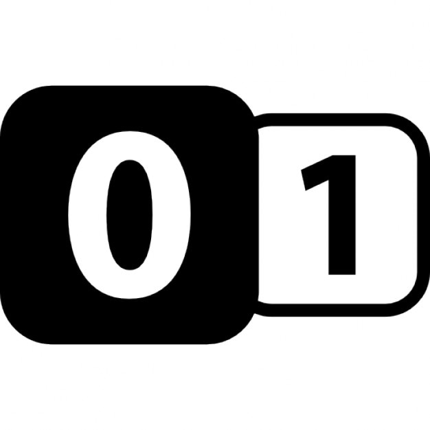 Zero To One Binary Interface Symbol With Two Numbers In Rounded