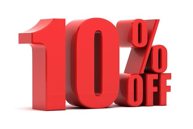 10 percent off promotion Premium Photo