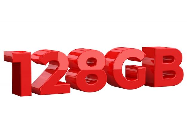 128gb storage capacity Premium Photo