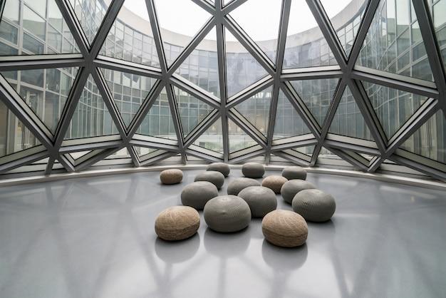 Чунцин, китай - 13 октября 2019 года: музей современного искусства чунцина, китай Premium Фотографии