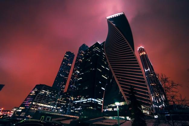 モスクワ、ロシア2016年12月25日:モスクワ市、モスクワ国際ビジネスセンター、ロシア Premium写真
