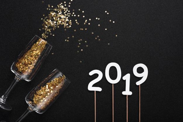 2019眼鏡から飛散するスパンコールの刻印 無料写真