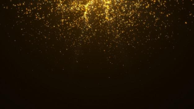 Новый год 2020. боке фон. фары абстрактные. счастливого рождества золотой блеск света. расфокусированные частицы. изолированные на черном. overlay. золотой цвет Premium Фотографии