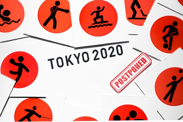 2020 sports event postponed composition Free Photo