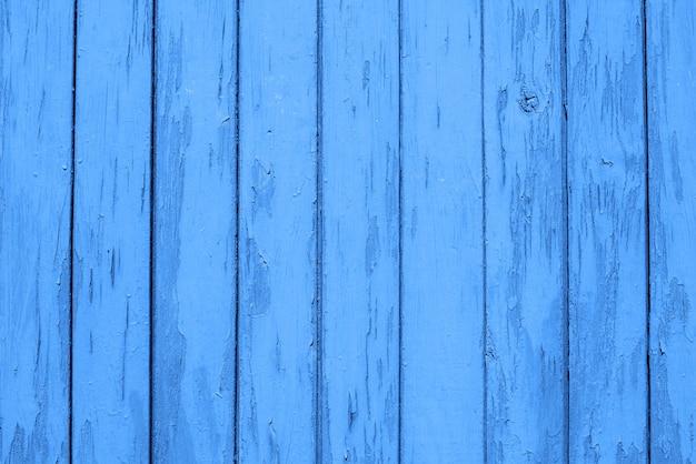 Голубая деревянная предпосылка доск, текстура. копировать пространство цвет тренда 2020 года классический синий Premium Фотографии