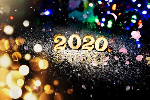 2020 новогодний фон Premium Фотографии