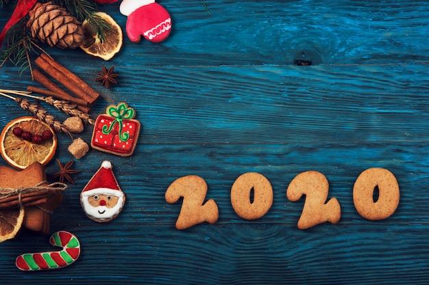 Пряники на новые 2020 года Premium Фотографии