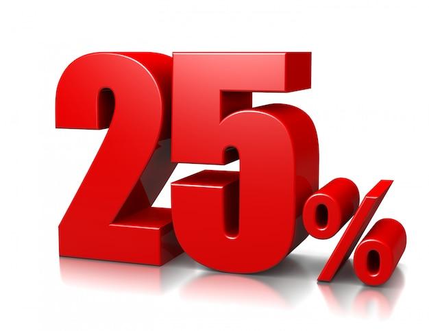 25 процентов Premium Фотографии