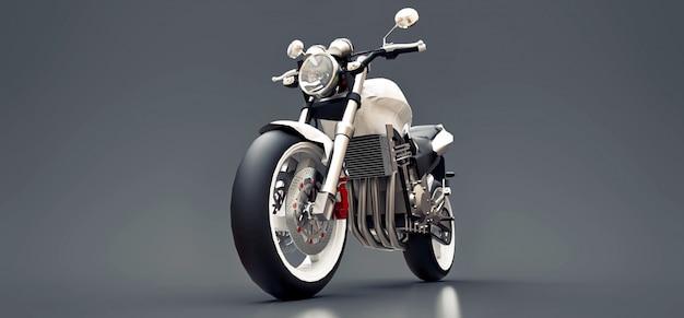 白い都市スポーツ2人乗りオートバイ Premium写真