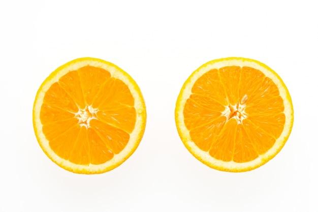 オレンジの2つのスライス 無料写真