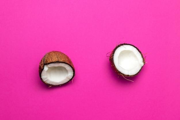 ココナッツ、2つに分割 Premium写真