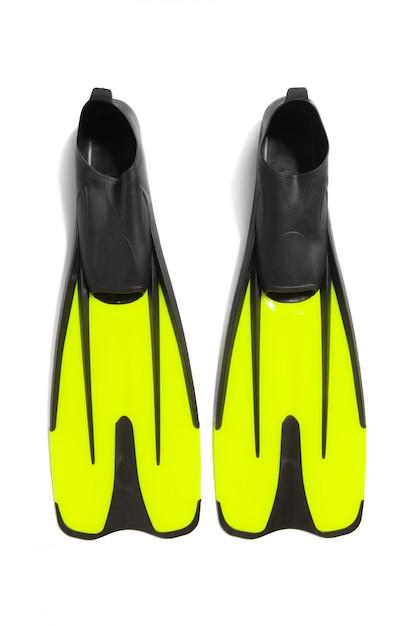 ダイビング用の2つの足ひれ Premium写真