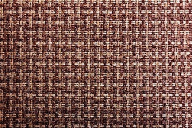 編まれた麻糸2色の背景テクスチャ Premium写真