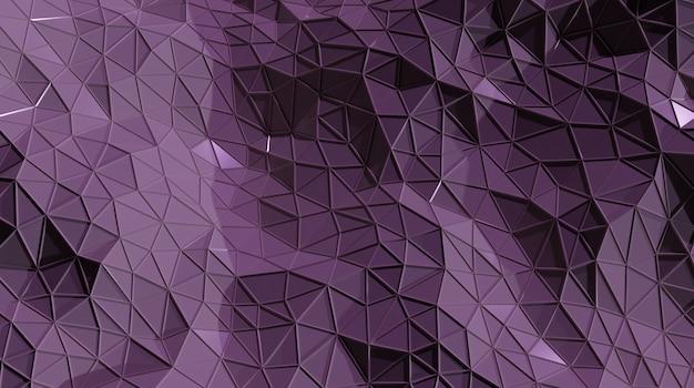 3 dの抽象的なパープルのシームレスな三角cystalline背景 Premium写真