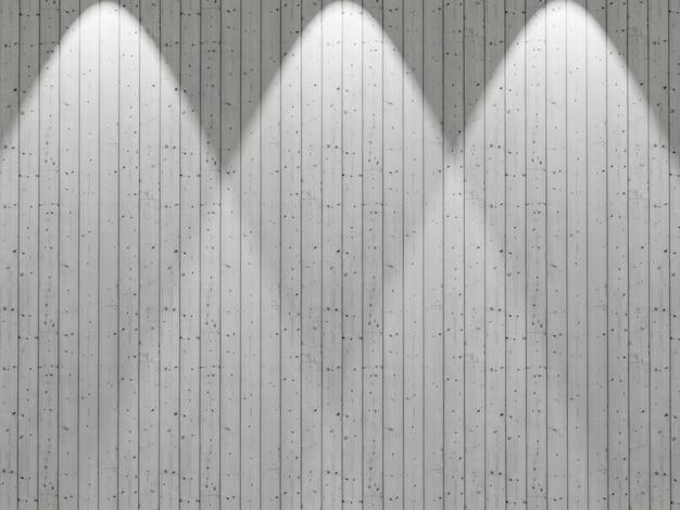 輝くスポットライトと3 dの白い木製の壁 無料写真