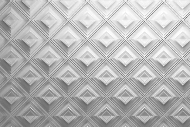 ひし形の白い3 dパターン Premium写真