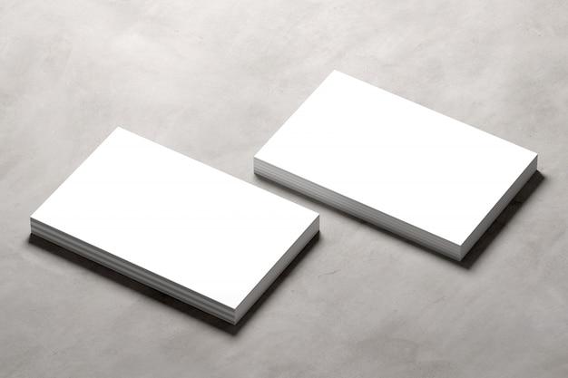 コンクリートの背景 -  3 dレンダリングに名刺のモックアップ Premium写真