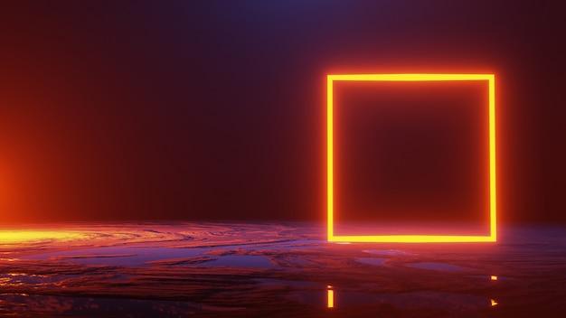 抽象的な空間、宇宙の概念、3 dのレンダリング Premium写真