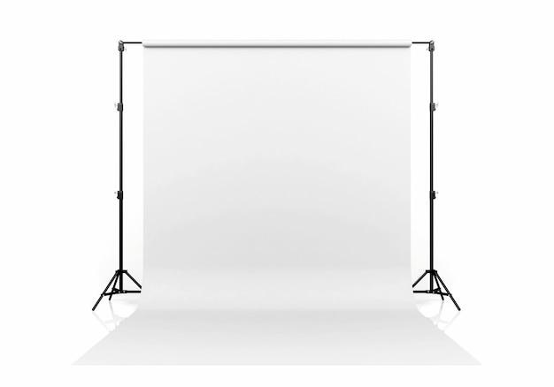 白い背景、3 dレンダリングに分離された白い背景 Premium写真