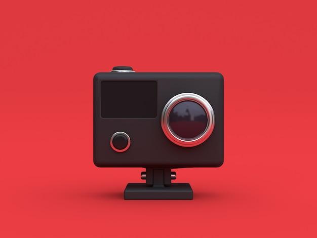 3 dブラックアクションカメラ Premium写真