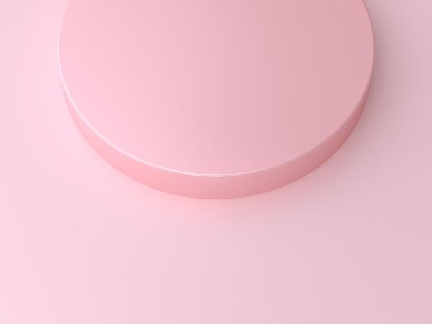 最小限の抽象的な背景の幾何学的な円図形ピンク3 dレンダリング Premium写真