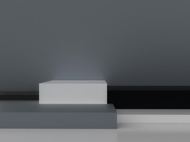 ミニマルな3 dレンダリング抽象的な幾何学的形状。 Premium写真
