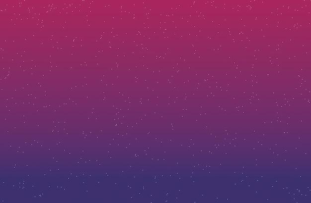 紫と濃いピンクの3 dレンダリングの星とグラデーションの背景。 Premium写真