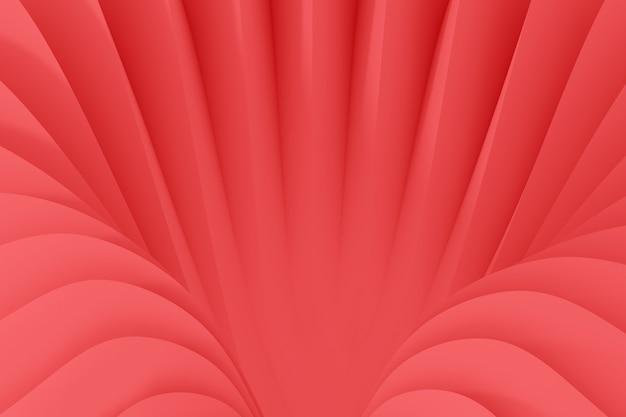 蛇紋岩の流れる波から抽象的な背景。生きているサンゴ色3 dイラスト Premium写真