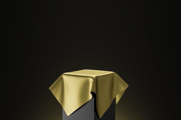黄金の台座の3 dレンダリング Premium写真