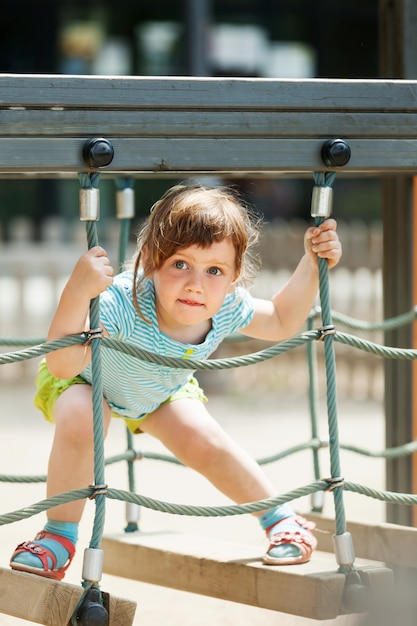 3 years baby at playground Free Photo