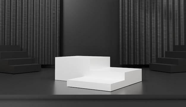 製品プレゼンテーション用の3次元の幾何学的な表彰台 Premium写真