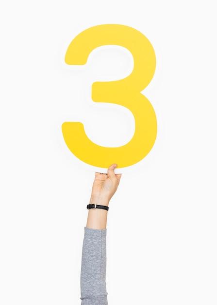 手を保持する3つの記号 無料写真
