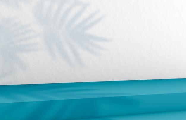 Фон для отображения косметического продукта. фон моды с синей лестницей. 3-й перевод. Premium Фотографии