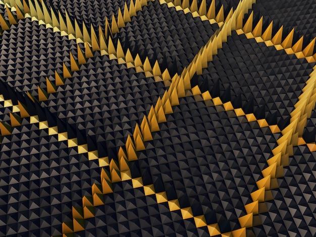 Priorità bassa astratta 3d con l'estrusione delle piramidi Foto Gratuite