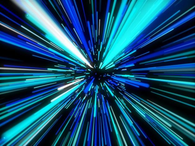 直線運動の3d抽象的な背景 無料写真