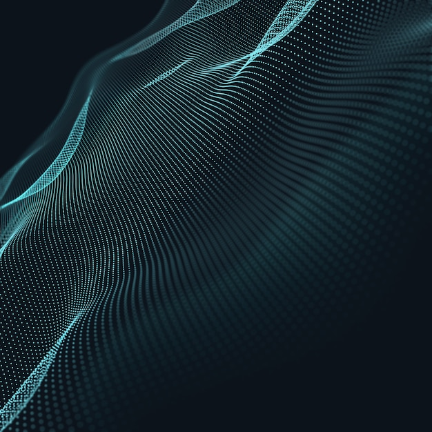 3d abstract blue geometrical background. connection structure. science background. futuristic technology Free Photo