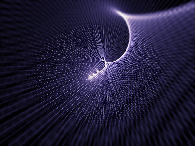 3d abstract cyber particle design background Free Photo