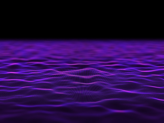 3d абстрактный цифровой фон с плавными кибер точками Бесплатные Фотографии
