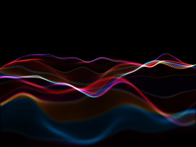 3d abstract modern background with flowing particles Free Photo