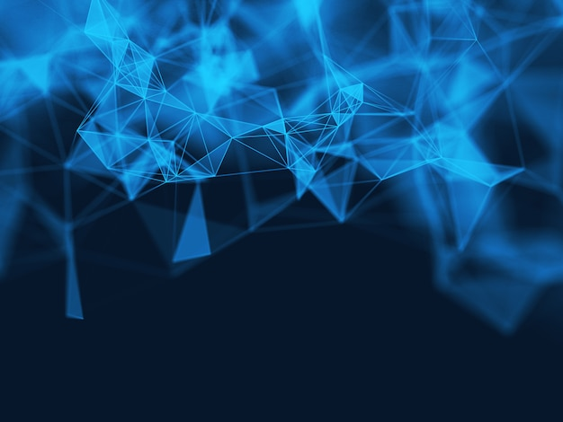 3d abstract polygonal blue background Free Photo