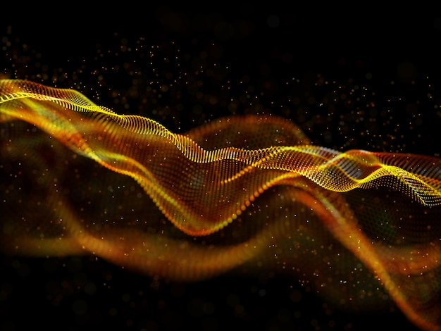 3d abstract techno background with particle design Free Photo