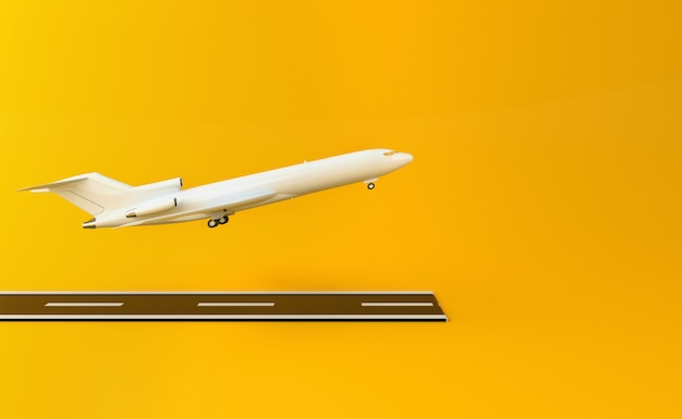 3d airplane Premium Photo