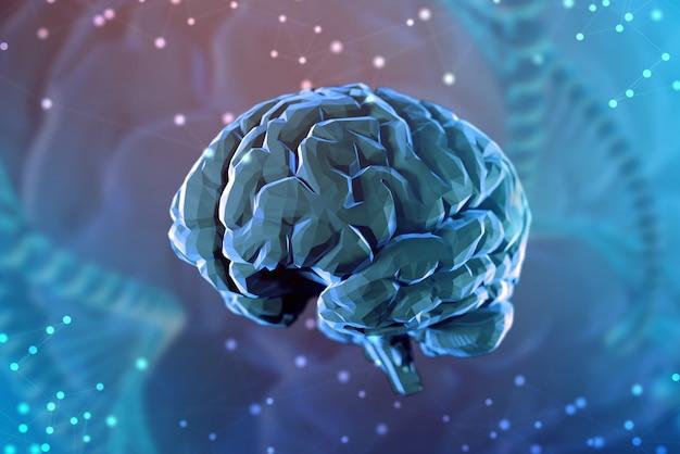 3d background of digital brain o Premium Photo