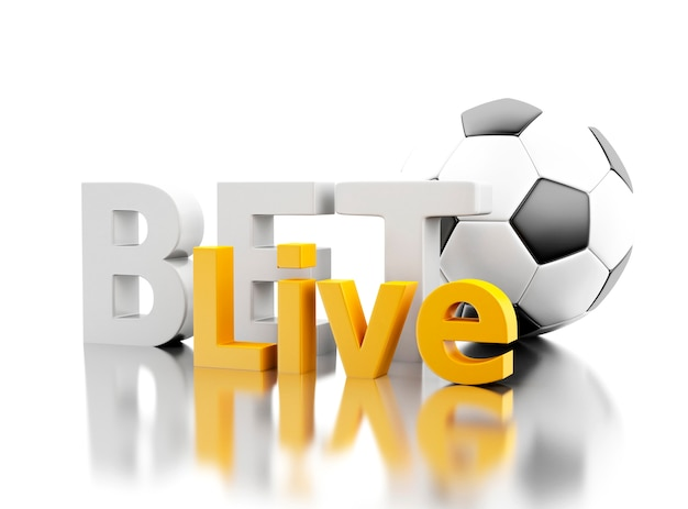 3d bet live with a soccer ball. betting concept. Premium Photo