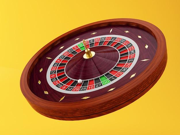 3d casino roulette wheel Premium Photo