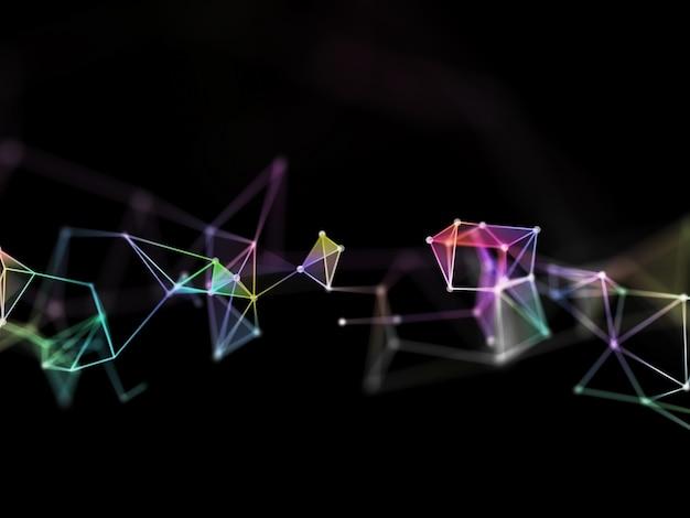 Трехмерный красочный низкополигональный дизайн сплетения с малой глубиной резкости Бесплатные Фотографии